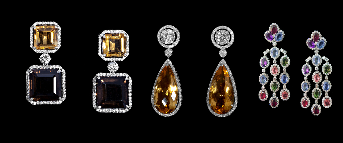 A Variety Of Modern And Designer Earrings By Diosa In Different Styles And Colors With Shiny Gems