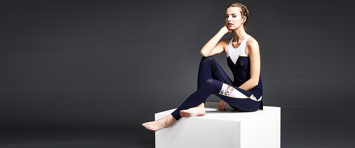 Designer Lucas Hugh of the Hunger Games fame designs high-performance luxury active wear.