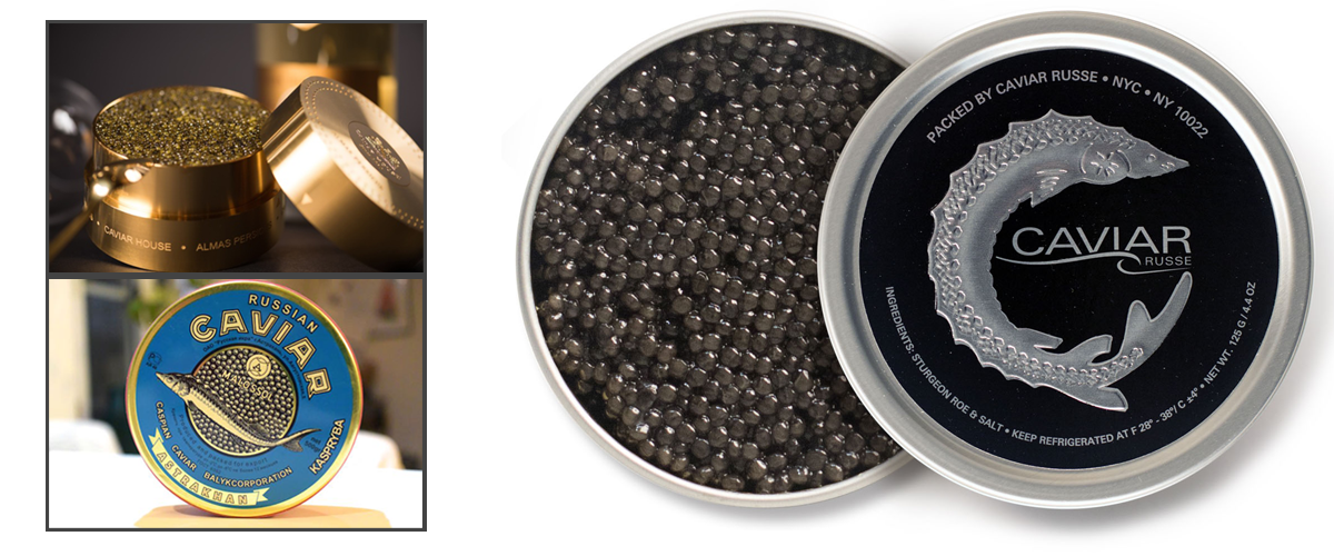 Caviar, royal-flavour, seafood, caviar packed in metal cases