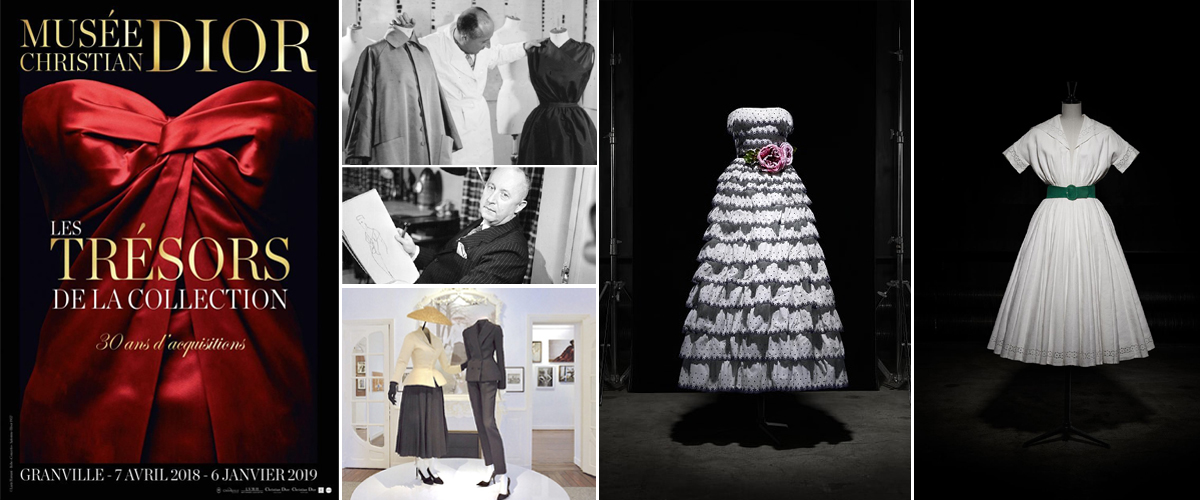 A display of Christian Dior's stunning high-end fashion luxury collection at the 19th century cliff top mansion in the Channel islands