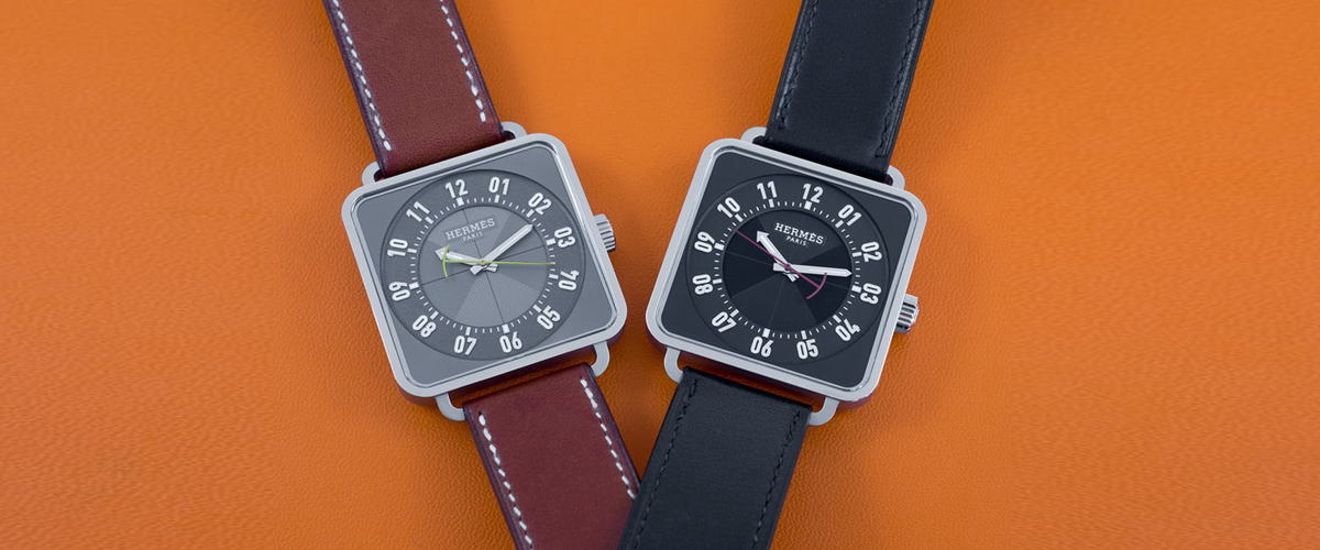 Designer Watches With Leather Straps In Two Beautiful Colors Created By Hermes