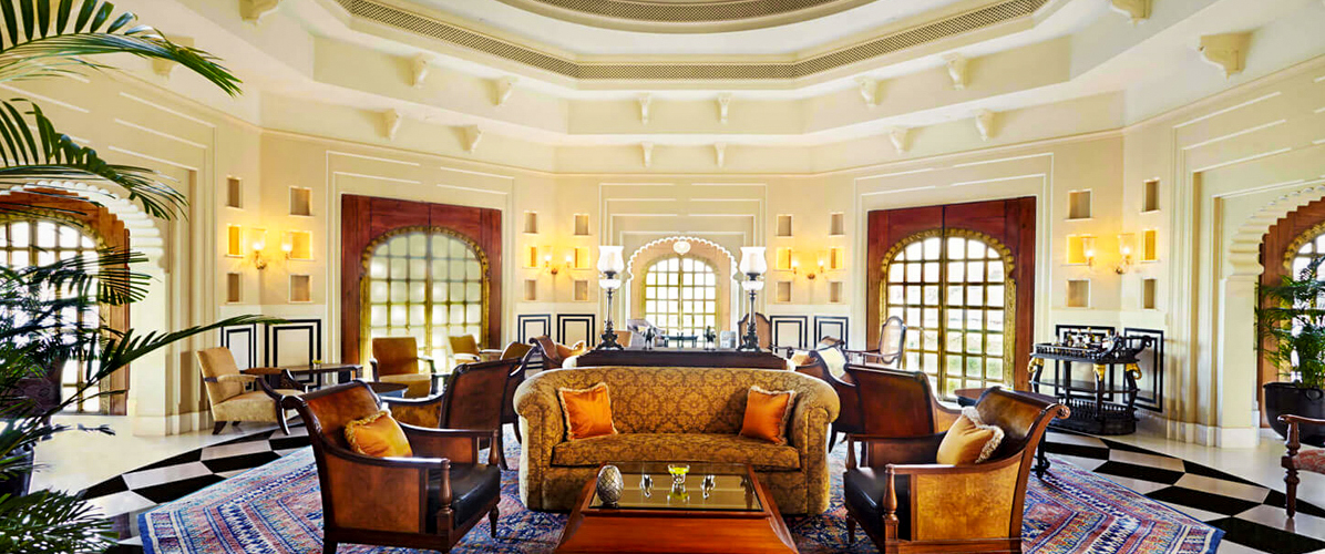 Lobby at Oberoi Udaivilas