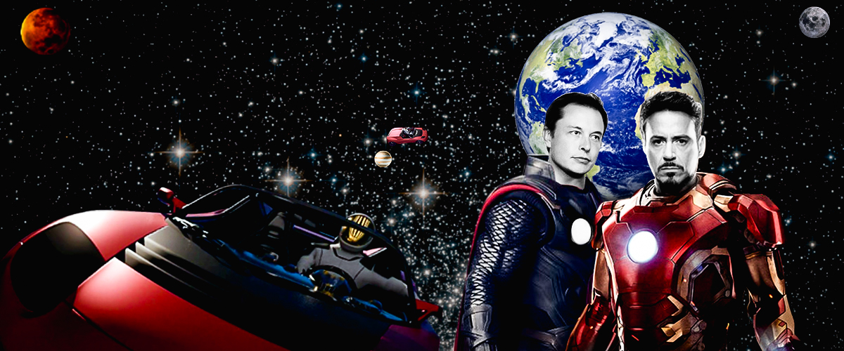 Elon Musk and Tony Stark reach for the stars, as they take on the reel and real world.