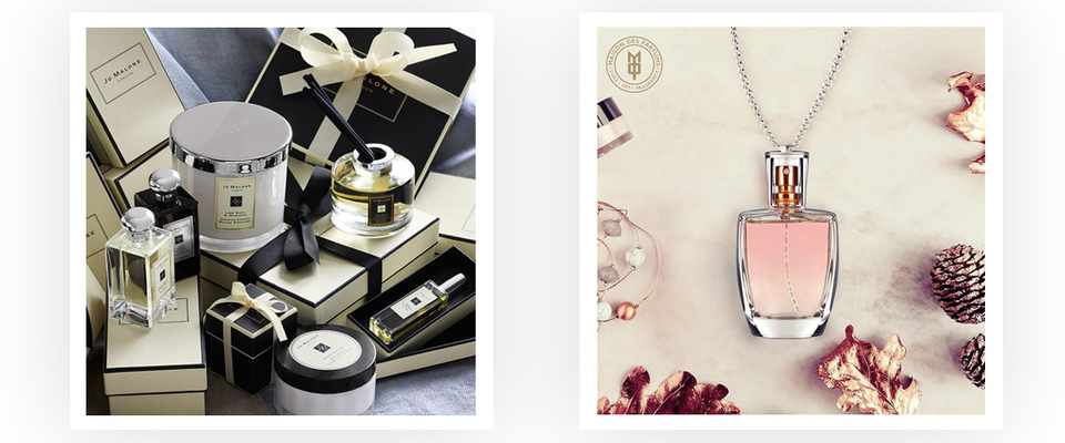 Luxury perfumes by Maison des Parfums & Jo Malone , a  rich collection in varied sizes and bottles along with scents
