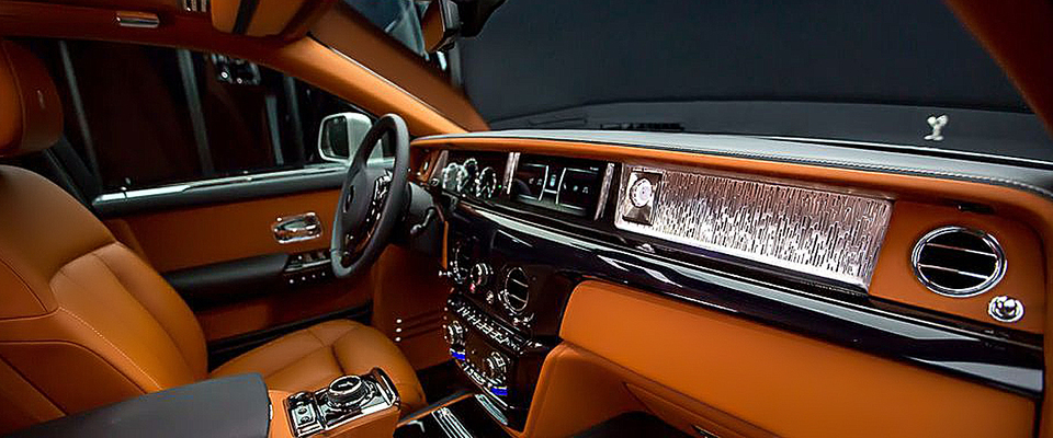 The Perky Orange And Cream Interiros Of Rolls Royce Phantom Viii