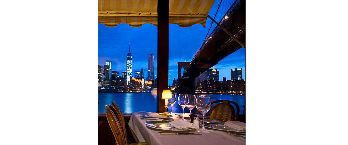New York city, waterfront restaurant, beach side dinner,New York night experience with food and city view