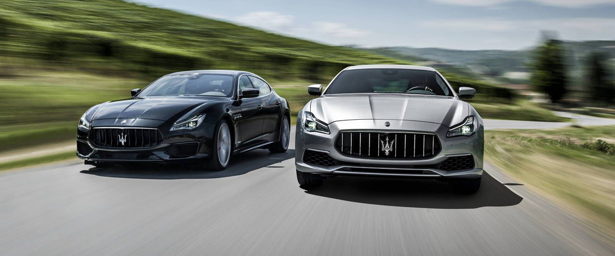 The new Maserati Ghibli in attractive black and steel grey hues that will make heads turn when you drive them on the road