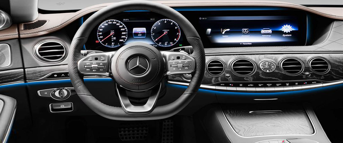 Behind The Wheel Beauty Of The Luxury Car, Mercedes Benz S Class