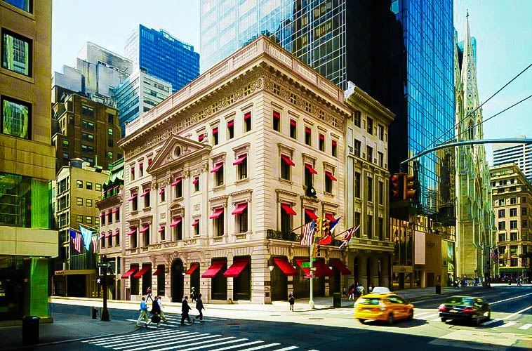 a richly designed building by cariter in new york