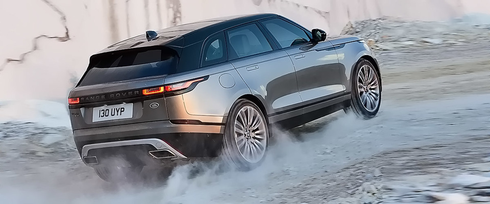 Grey Colored Shining Suv Velar By Range Rover