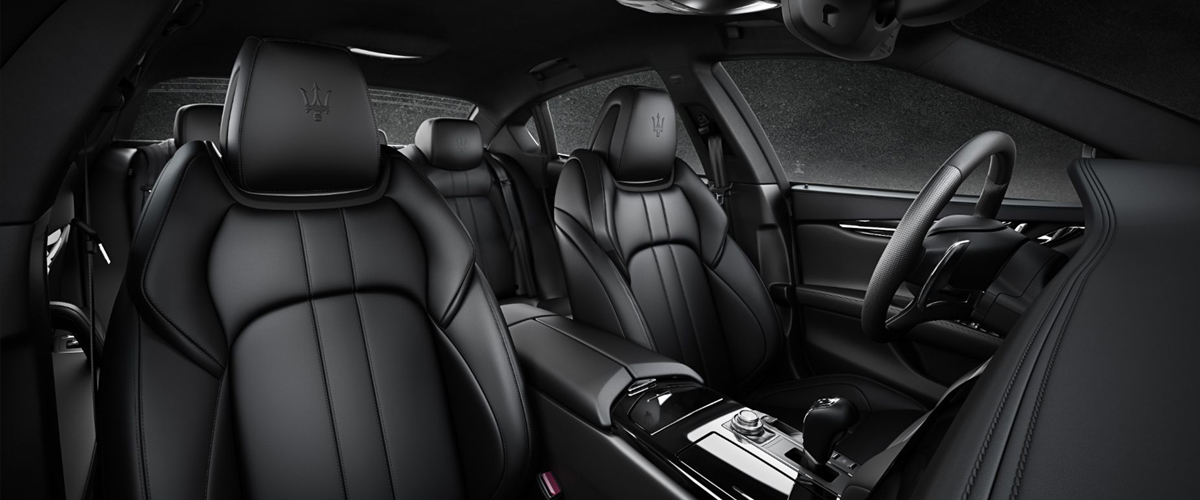 The stunning interiors of the new Maserati Ghibli 2018 edition in black colour –it's bold and stunning!
