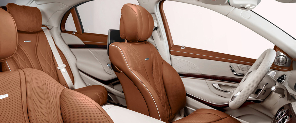 The Light Brown Colored Seating Inside The Mercedes Benz S Class