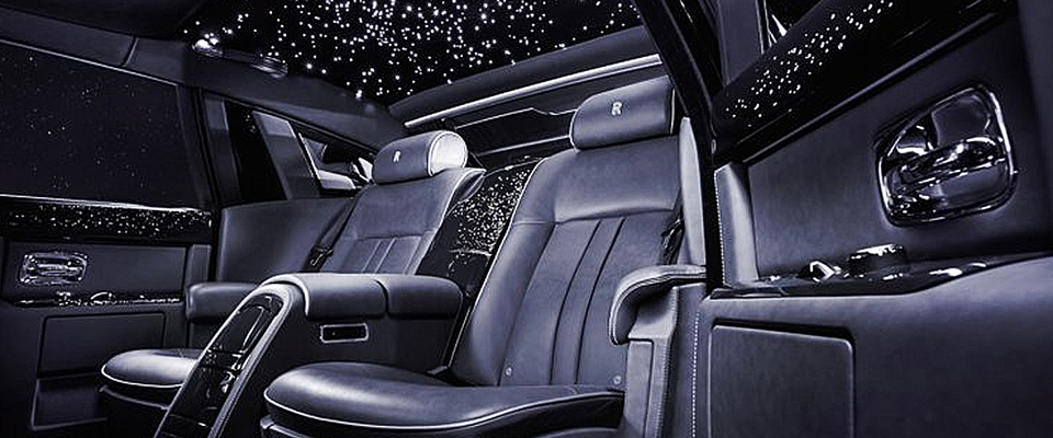 Seating In Black Of The Brand New Luxury Car, Rolls Royce Phantom Viii
