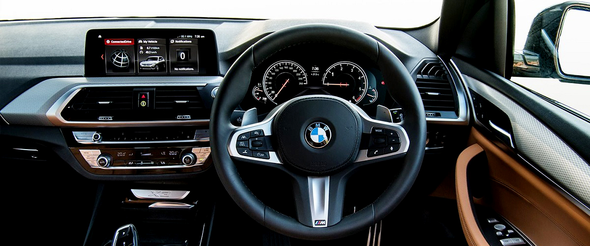 The Luxurious Interiors Of The New Bmw X3 In A Combination Of Black And Beige