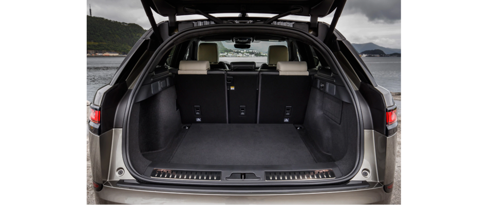 The Spacious Rear Side Of The Range Rover Velar Suv