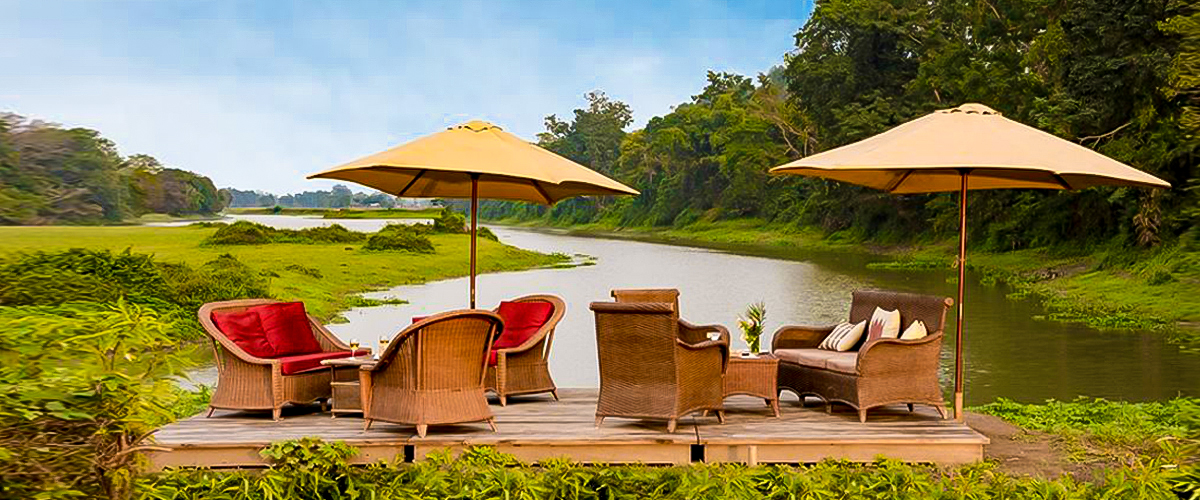 Diphlu river lodge, kaziranga national park, best places visit india, river side luxury retreat, luxury bamboo cottage