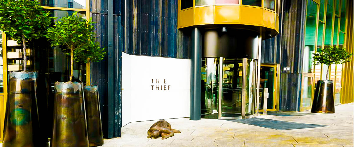 Thief hotel, best Norway hotel, 5 star luxury hotel, Oslo Fjord, front of the thief hotel