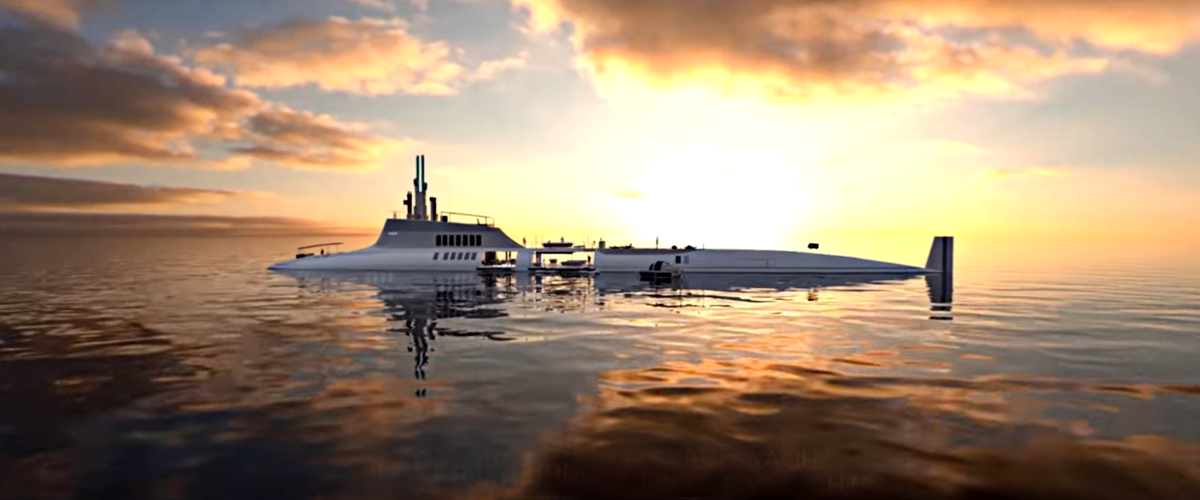 A Luxury Superyacht Floating In The Water